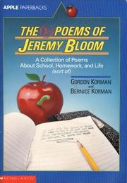 Cover of: The D- poems of Jeremy Bloom: a collection of poems about school, homework, and life (sort of)