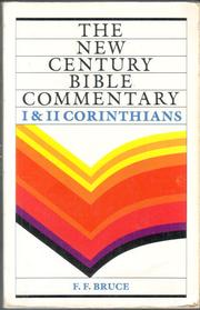 Cover of: 1 and 2 Corinthians | Bruce, F. F.