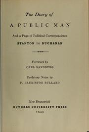 Cover of: The Diary of a public man