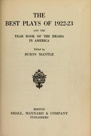 Cover of: The Best plays of 1922-23 | Burns Mantle