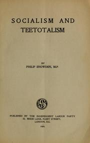 Cover of: Socialism and teetotalism