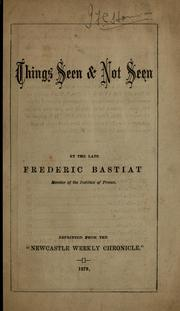 Cover of: Things seen & not seen
