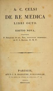 Cover of: A. C. Celsi De re medica libri octo