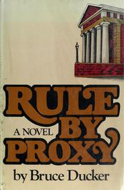 Cover of: Rule by proxy