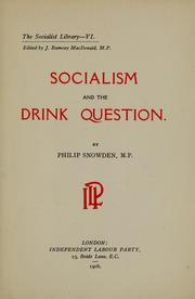 Cover of: Socialism and the drink question
