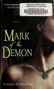 Cover of: Mark of the demon | Diana Rowland