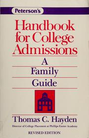 Cover of: Handbook for college admissions | Thomas C. Hayden