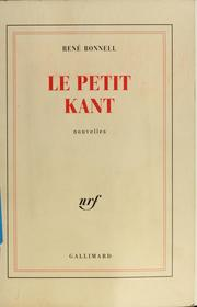 Cover of: Le petit Kant