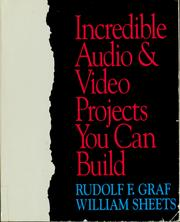 Cover of: Incredible audio & video projects you can build