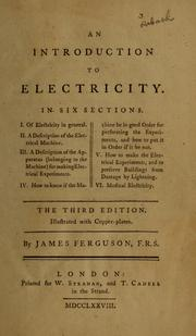 Cover of: An introduction to electricity
