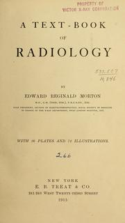 Cover of: A text-book of radiology