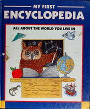 Cover of: My first encyclopedia
