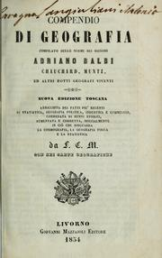 Cover of: Compendio di geografia