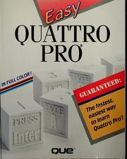 Cover of: Easy Quattro pro