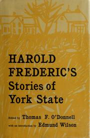 Cover of: Stories of York State: Edited by Thomas F. O'Donnell, with an introd. by Edmund Wilson.