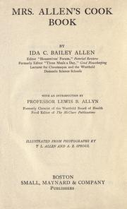 Cover of: Mrs. Allen's cook book