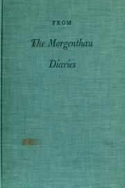 Cover of: From the Morgenthau diaries. | John Morton Blum