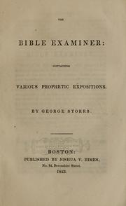 Cover of: The Bible examiner