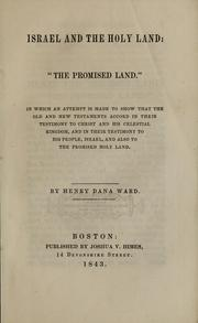Cover of: Israel and the Holy Land