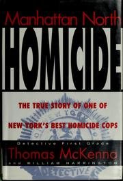 Cover of: Manhattan North Homicide