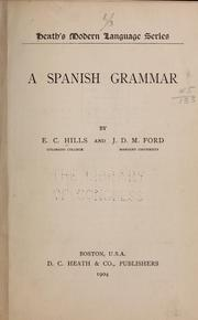 Cover of: A Spanish grammar