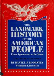 Cover of: The landmark history of the American people