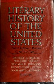 Cover of: Literary history of the United States | Robert Ernest Spiller