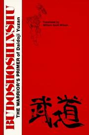 Cover of: Budoshoshinshu by William Scott Wilson