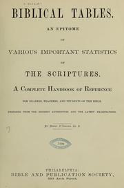 Cover of: Biblical tables | Henry S. Osborn