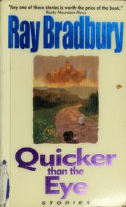 Cover of: Quicker than the eye
