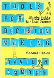 Cover of: Tools for decision making | David N. Ammons