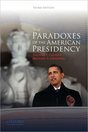Cover of: The paradoxes of the American presidency | Thomas E. Cronin
