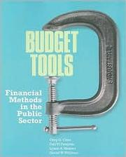 Cover of: Budget tools |
