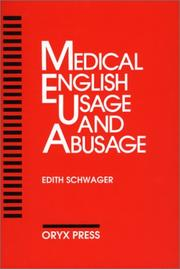 Cover of: Medical English usage and abusage