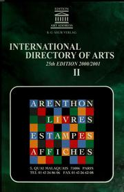Cover of: International directory of arts = |