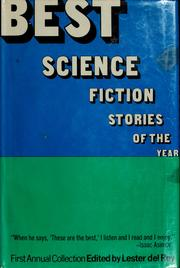 Cover of: Best science fiction stories of the year: First Annual Collection