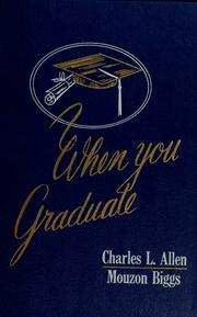 Cover of: When you graduate