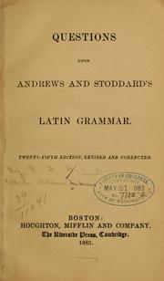 Cover of: Questions upon Andrews and Stoddard