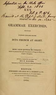 Cover of: Key to Sequel to any grammar exercises