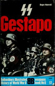 Cover of: SS and Gestapo: rule by terror