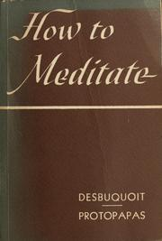 Cover of: How to meditate