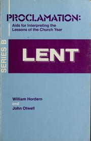 Cover of: Lent | William Hordern