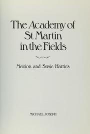 Cover of: The Academy of St. Martin in the Fields