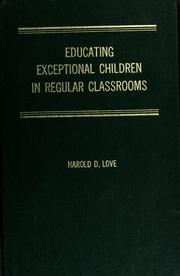 Cover of: Educating Exceptional Children in Regular Classrooms