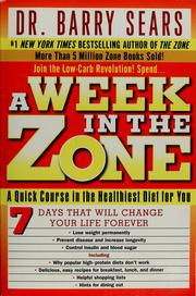 Cover of: A week in the zone