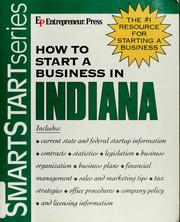 Cover of: How to start a business in Indiana | Entrepreneur Press
