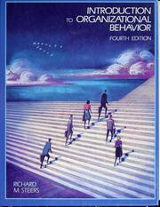 Cover of: Introduction to organizational behavior