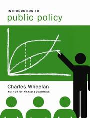 Cover of: Introduction to Public Policy | Charles J. Wheelan
