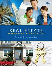 Cover of: Real Estate Principles and Practices |