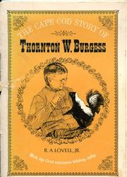 Cover of: The Cape Cod story of Thornton W. Burgess
